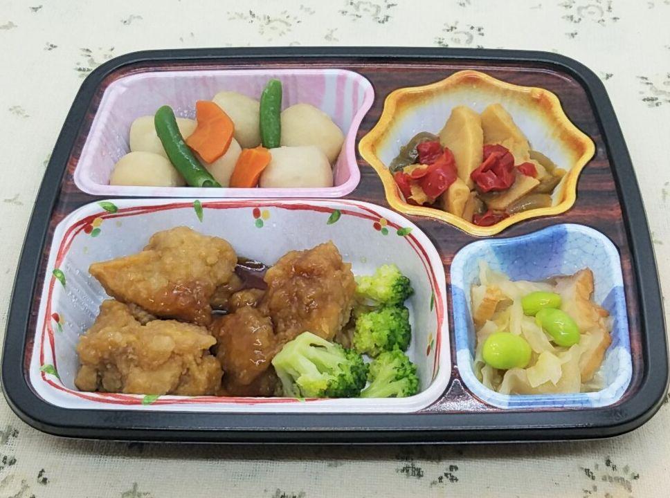 ベルーナ宅菜便「ほほえみ御膳」鶏の唐揚げ甘酢ソースセット