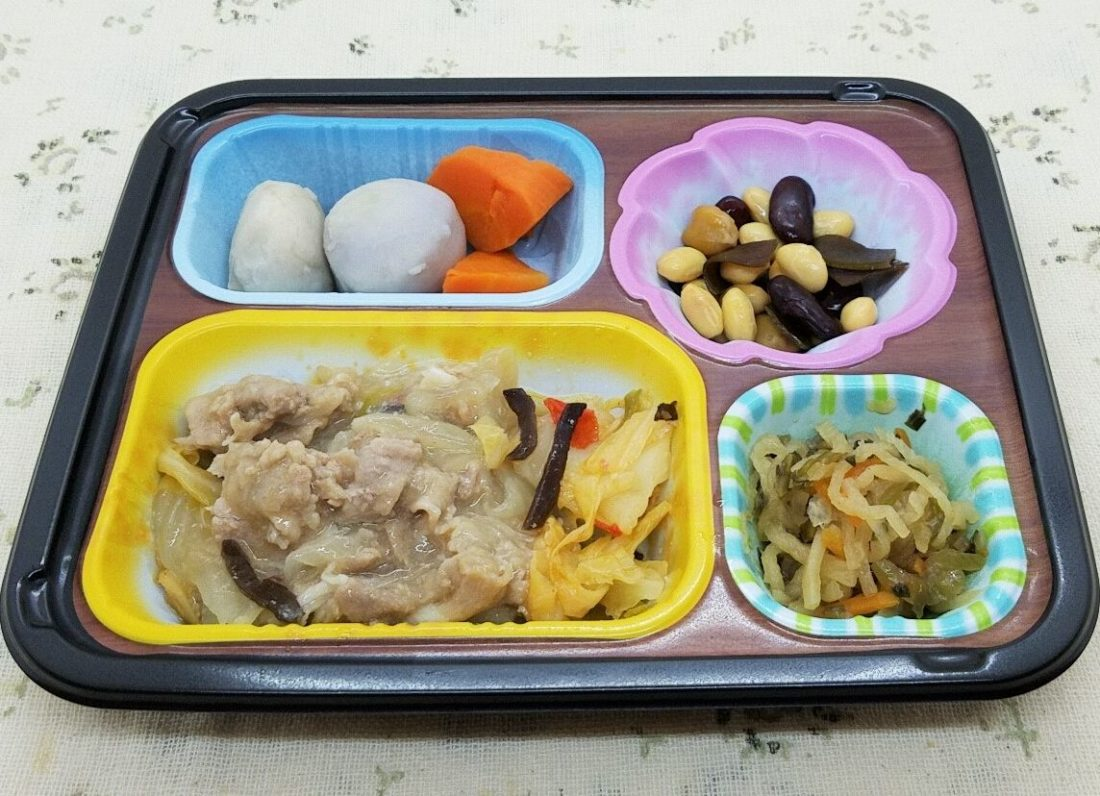 「まごころ手鞠」豚肉と野菜の中華風(ワタミの宅食)