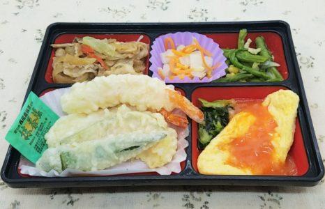 東都生協の夕食宅配・国産応援ご膳「天ぷら盛り合わせ」
