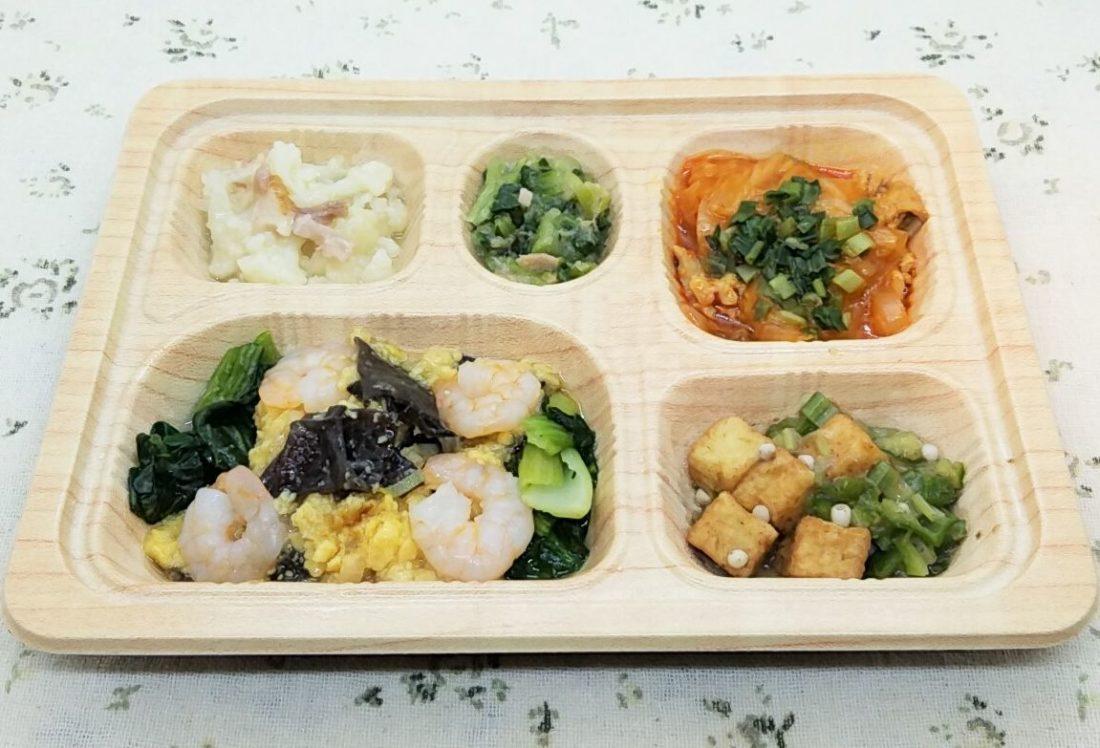 食宅便のメニュー・低糖質セレクトE「海老と卵の中華炒め」
