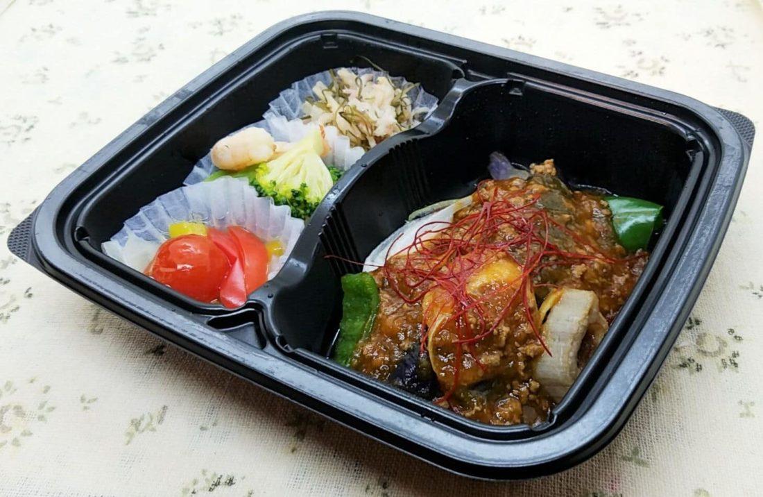 nosh(ナッシュ)の冷凍弁当「ごろっと野菜の麻婆茄子セット」
