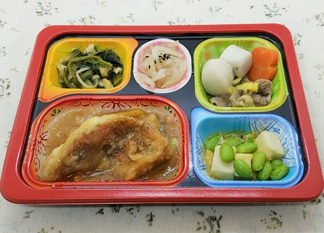 食宅便・塩分ケアE「赤魚の揚げ煮野菜あんかけ」