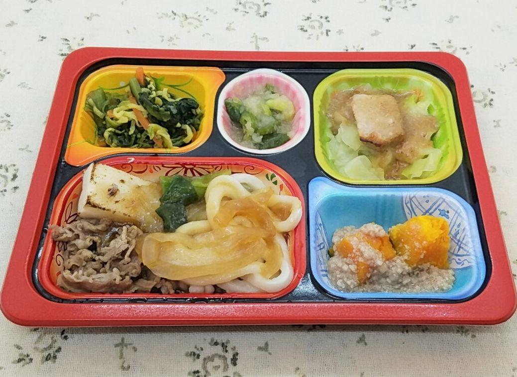 食宅便・塩分ケアE「牛すき焼き関西風(うどん入り)」